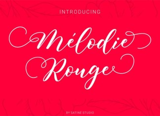 Melodie Rouge Calligraphy Font