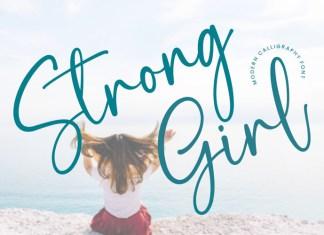 Strong Girl Script Font