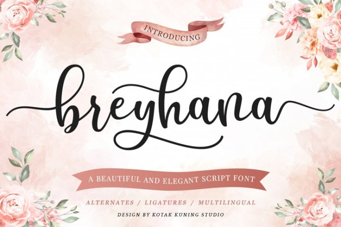 Breyhana Calligraphy Font