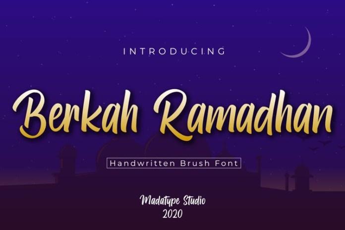 Berkah Ramadhan Script Font