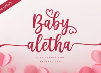 Baby Aletha Calligraphy Font