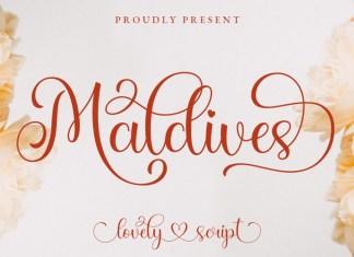 Maldives Calligraphy Font