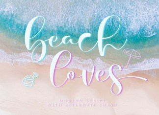 Beach Loves Calligraphy Font