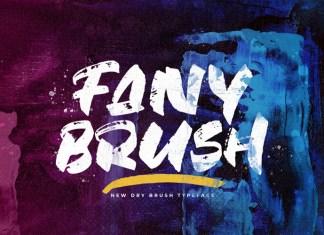 Fany Brush Brush Font