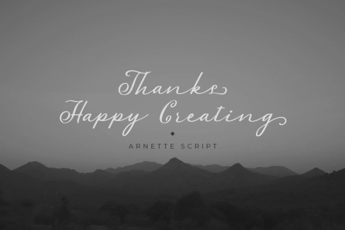 Arnette Handwritten Font