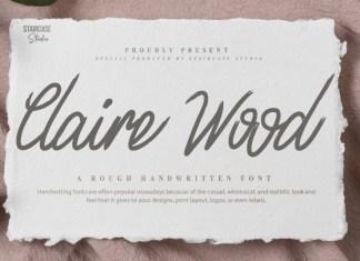 Claire Wood Handwritten Font