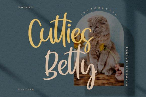 Cutties Betty Script Font