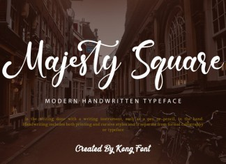 Majesty Square Calligraphy Font