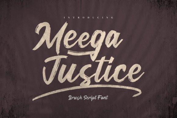 Meega Juctice Brush Font