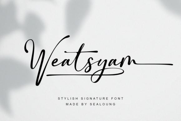 Weatsyam Script Font