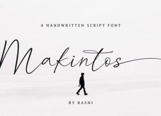 Makintos Script Font