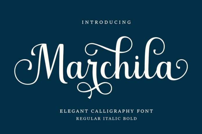 Marchila Script Font