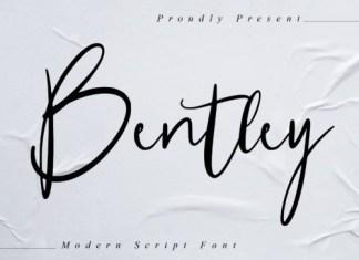 Bentley Script Font