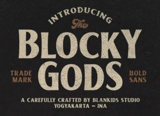 Blocky Gods Display Font