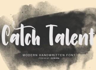 Catch Talent Brush Font