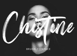 Christine Brush Font