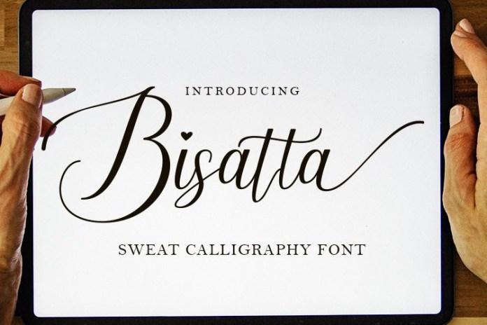 Bisatta Calligraphy Font
