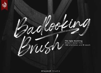 Badlooking Brush Font