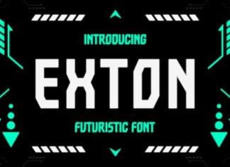 Exton Display Font