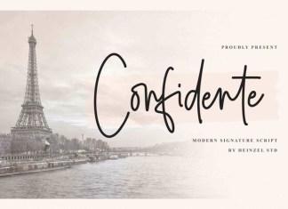 Confidente Handwritten Font