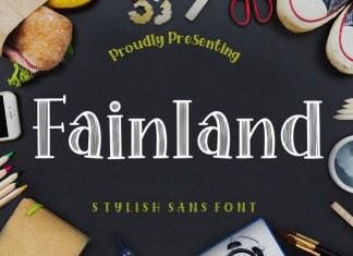 Fainland Display Font