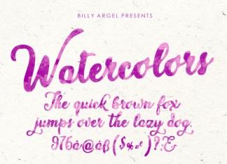 WATERCOLORS Script Font