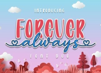 Forever Script Font Duo