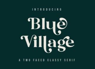 Blue Village Serif Font