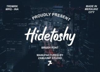 Hidetoshy Brush Font