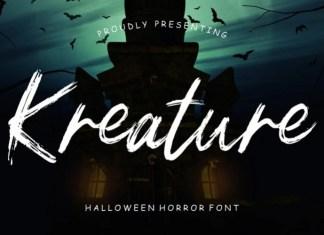 Kreature Brush Font