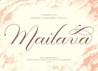Mailava Calligraphy Font