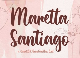 Maretta Santiago Script Font