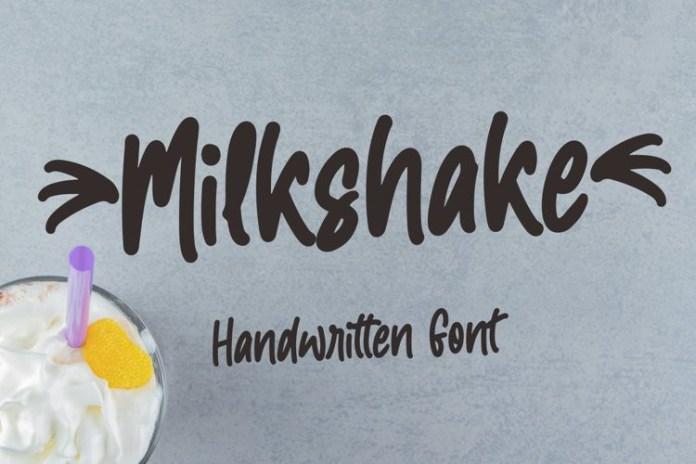 Milkshake Handwritten Font