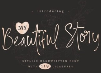 My Beautiful Story Script Font