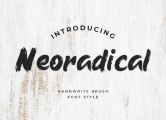 Neoradical Brush Font