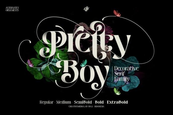 Pretty Boy Serif Font