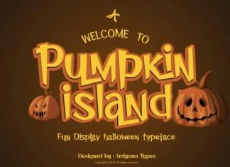 Pumpkin Island Display Font