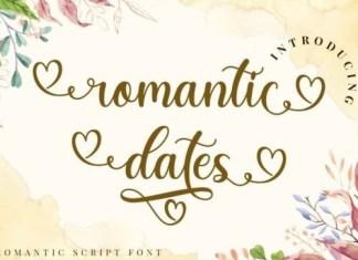 Romantic Dates Calligraphy Font