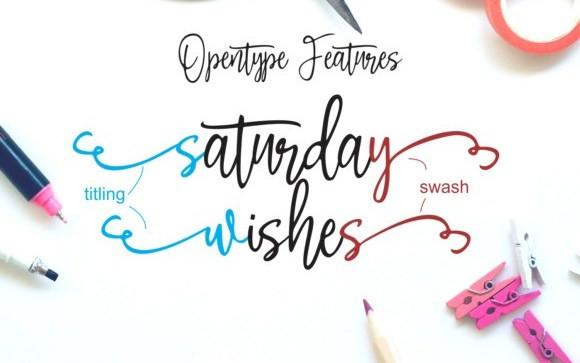 Saturday Wishes Handwritten Font