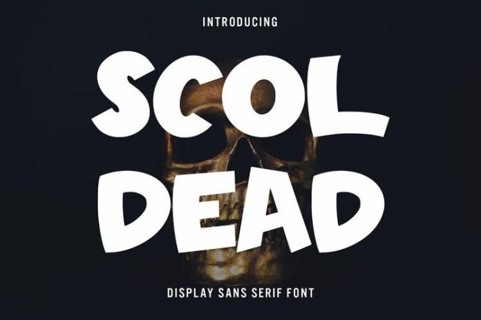 Scoldead Display Font
