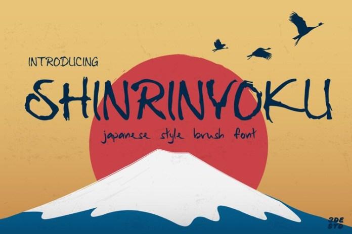 Shinrinyoku Brush Font