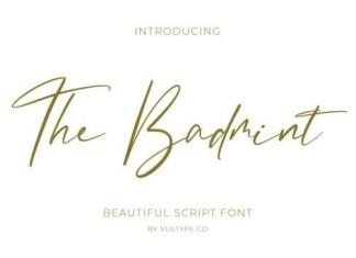 The Badmint Script Font