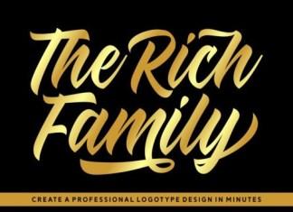 The Rich Family Script Font