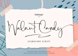 Walnut Candy Script Font