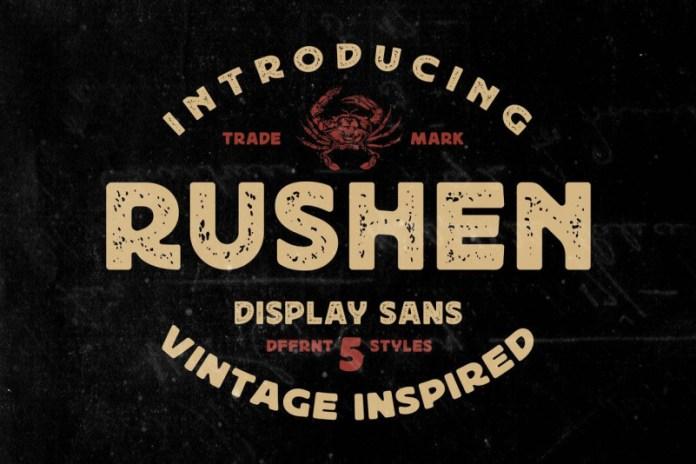 Rushen Display Font