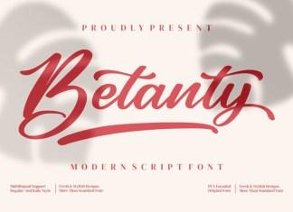 Betanty Script Font