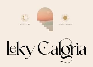 Leky Calgria Serif Font