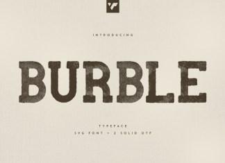 Burble Display Font