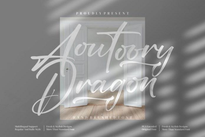 Aoutoory Dragon Brush Font