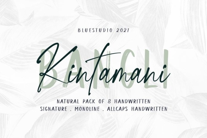 Bangli Kintamani Handwritten Font
